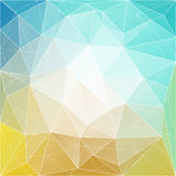 Abstract triangle mosaic gradient colorful background Royalty Free Stock Photos