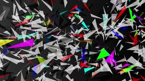 Abstract triangle in multi color stock video footage