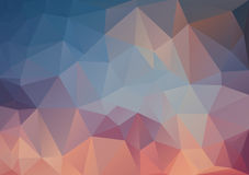 Abstract Triangle Multicolored Background Royalty Free Stock Image