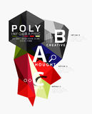 Abstract triangle option infographic template Royalty Free Stock Photos