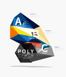 Abstract triangle option infographic template. Vector abstract triangle option infographic template Stock Photos