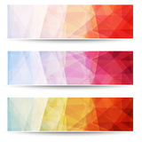 Abstract triangle pattern banners Stock Photo