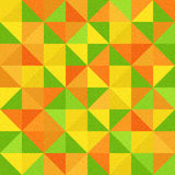 Abstract triangle pattern - different colors, seamless background Stock Photos