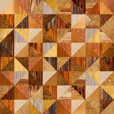 Abstract triangle pattern - different colors - wooden texture Stock Photography