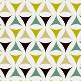 Abstract triangle pattern. Including seamless sample in swatch panel Stock Images