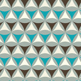 Abstract triangle pattern. Including seamless sample in swatch panel Stock Photos