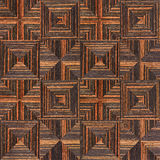 Abstract triangle pattern - seamless background - Ebony wood Stock Photography