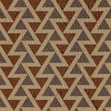 Abstract triangle pattern - seamless background - leather surfac Stock Image