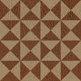 Abstract triangle pattern - seamless background - leather textur Royalty Free Stock Photo