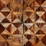 Abstract triangle pattern - seamless background - wood texture Royalty Free Stock Images
