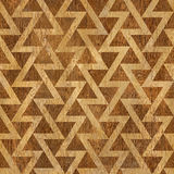 Abstract triangle pattern - seamless background - wood texture Royalty Free Stock Photo