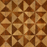 Abstract triangle pattern - seamless background - wooden surface Royalty Free Stock Images