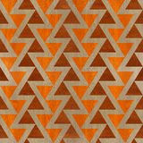 Abstract triangle pattern - seamless background - wooden surface Stock Image