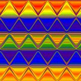 Abstract triangle pattern in spectrum colors, effect rainbow Royalty Free Stock Photography