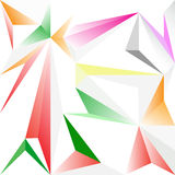 Abstract triangle polygon for background. Abstract color the triangle polygon for background Stock Photography