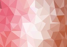 Abstract triangle polygon background. In pink brown color Vector EPS10 Stock Photos