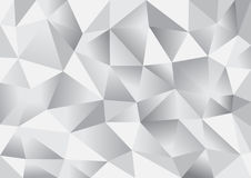 Abstract triangle polygon background. In silver white color (vector EPS10 Stock Images