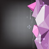 Abstract triangle polygon background Royalty Free Stock Photography