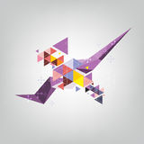 Abstract triangle polygon design Stock Image