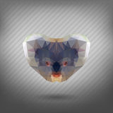 Abstract triangle polygonal animal koala Stock Photography