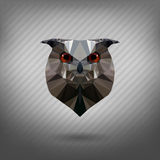 Abstract triangle polygonal animal owl. Abstract triangle polygonal animal in the style of origami owl Stock Images