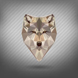 Abstract triangle polygonal animal set Royalty Free Stock Photos