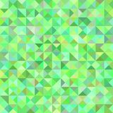 Abstract triangle pyramid pattern background - mosaic vector illustration from triangles in colorful tones. Green abstract triangle pyramid pattern background stock illustration