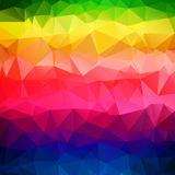Abstract triangle rainbow color texture Stock Images