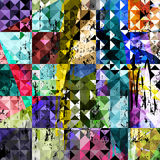 Abstract triangle seamless background Stock Image