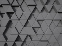 Abstract triangle shape background in gray color random position. 3d rendering vector illustration