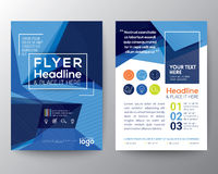 Abstract Triangle shape Poster Brochure Flyer design Layout. Abstract Blue Triangle shape background for Poster Brochure Flyer design Layout vector template in Stock Photography