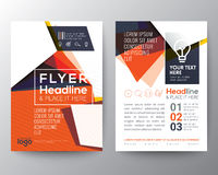 Abstract Triangle shape Poster Brochure Flyer design Layout Royalty Free Stock Photos