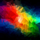 Abstract triangle spectrum colors texture Royalty Free Stock Photography