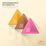 Abstract triangle tag infographics Stock Photography