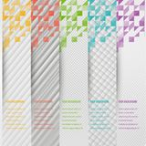 Abstract triangle template banner. Color set Stock Photos