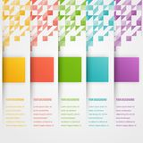 Abstract triangle template banner. Color set Royalty Free Stock Photos
