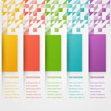 Abstract triangle template banner. Color set Stock Photography