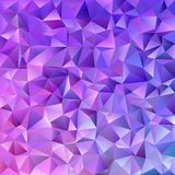 Abstract triangle tile mosaic background - vector graphic from triangles in purple tones. Abstract geometrical triangle tile mosaic background - vector graphic royalty free illustration