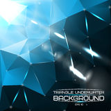 Abstract triangle underwater background with Royalty Free Stock Image