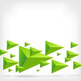 Abstract Triangle Vector Background. Green Triangles in the Form of Arrows on White Background with Shadow Royalty Free Stock Image