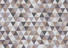 Abstract triangle vector background in grey brown color | print and web graphic design | modern style artwork Stock Photography