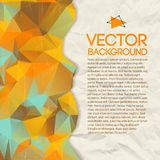 Abstract triangle vector background Stock Images