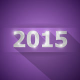 2015 with abstract triangle violet background. Stock vector Royalty Free Stock Photography