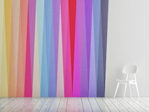 Abstract triangle wall, loft space, Stock Photos