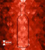 Abstract triangle wine background Royalty Free Stock Photo