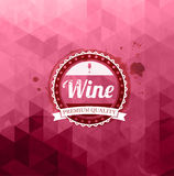 Abstract triangle wine background Stock Photography