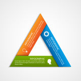 Abstract triangled options infographics template. Stock Photos