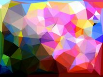 Abstract triangles bacground. Abstract triangles geometric multicolored bacgrounds Royalty Free Stock Photos