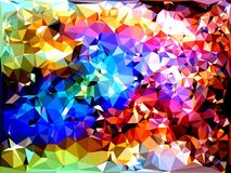 Abstract triangles bacground. Abstract triangles geometric multicolored bacgrounds royalty free illustration