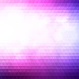 Abstract triangles background with bokeh. Royalty Free Stock Photos